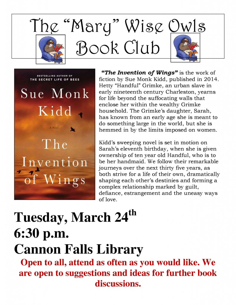 Invention of Wings - Book Club